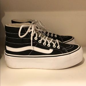 45fe4103a9 Vans Shoes | Van Platform Hightop Classic Sneakers | Poshmark